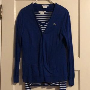 Lacoste v-neck w/ matching Cardigan